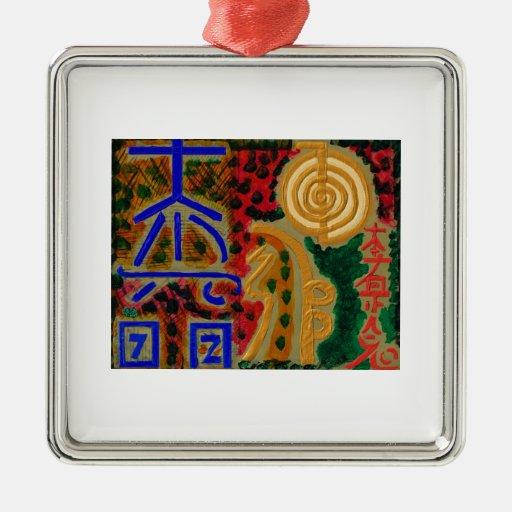 Pure Reiki Master Symbols Christmas Tree Ornament