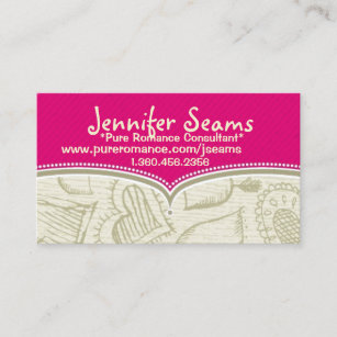 pure romance consultant business cards - Pure Romance Business Cards