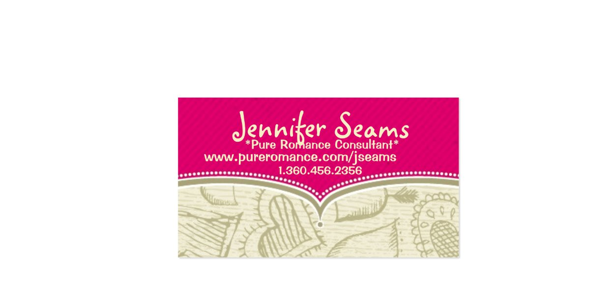 Pure romance consultant business cards business card for Pure romance business cards