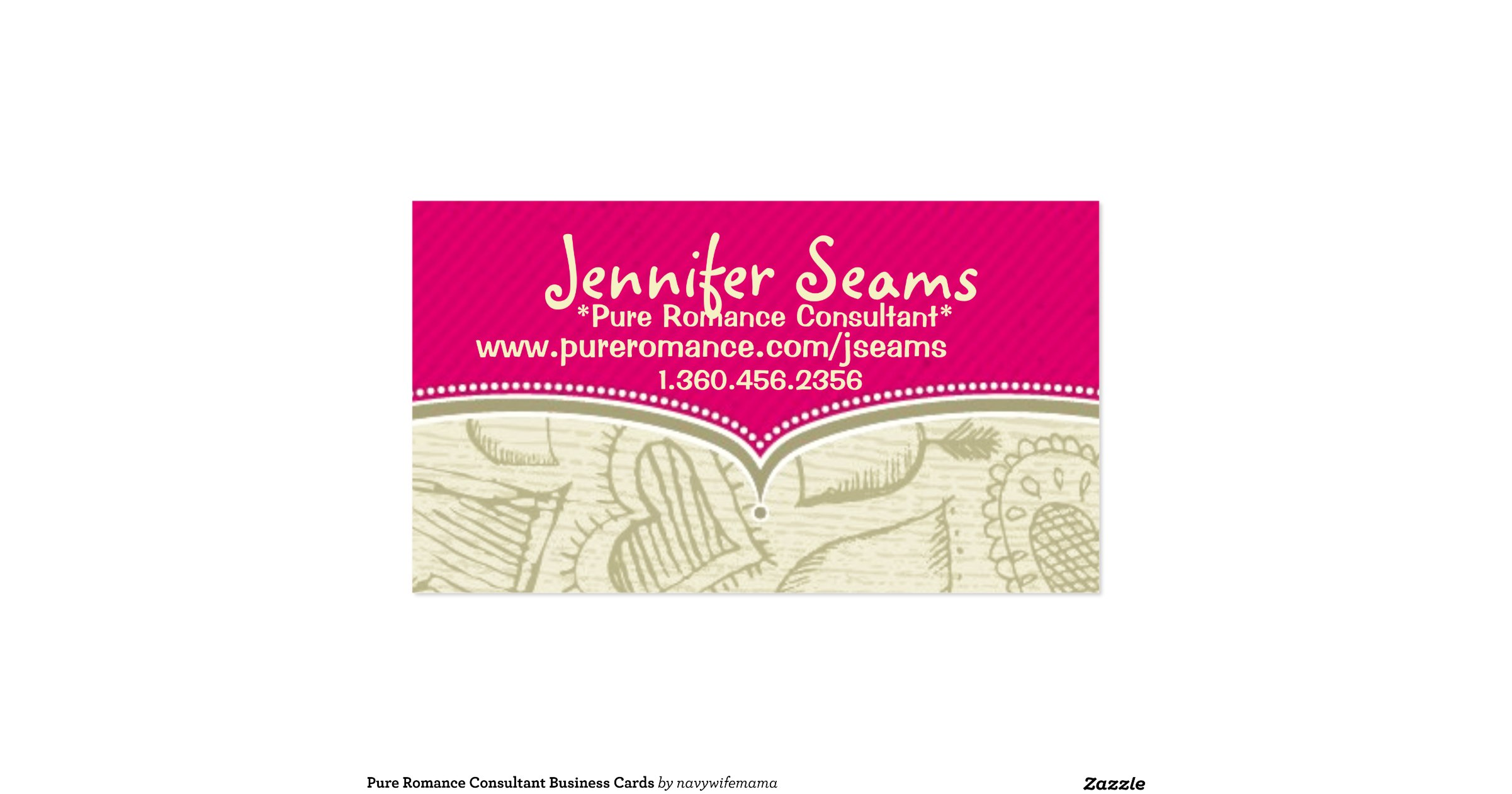 elegant pics of pure romance business cards business cards