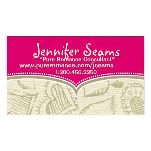 Pure romance consultant business cards zazzle for Pure romance business cards