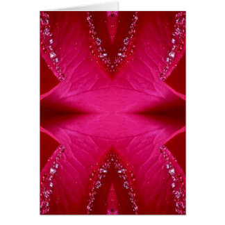 Pure Rose Petal Art - Blood Red n PinkRose Card