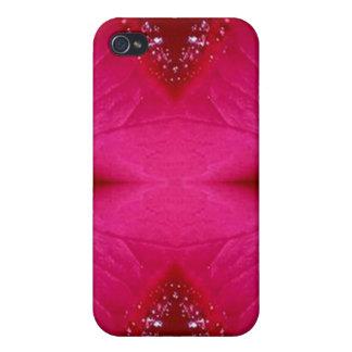 Pure Rose Petal Art - Blood Red n PinkRose iPhone 4 Case