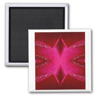 Pure Rose Petal Art - Blood Red n PinkRose Refrigerator Magnet