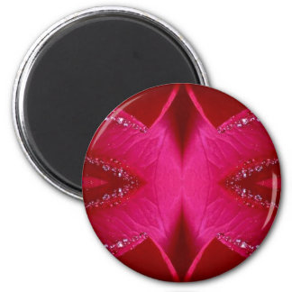 Pure Rose Petal Art - Blood Red n PinkRose Magnets