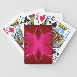 Pure Rose Petal Art - Blood Red n PinkRose Deck Of Cards