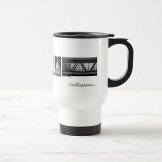 Pure Saginaw Letters Travel Mug