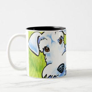 Pure Schnauzer Two-Tone Coffee Mug