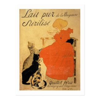 'Pure Sterilized Milk from La Vingeanne', 1894 (co Postcard