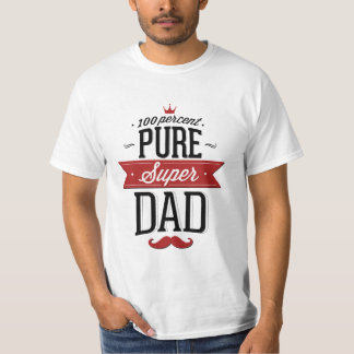 Pure Super Dad Moustache Red and Black T-Shirt