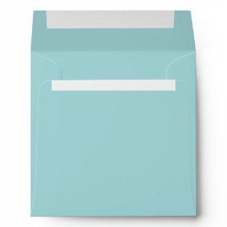 Pure Teal Blue Linen Envelopes