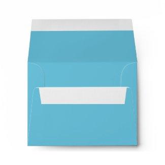 Pure Teal Blue Linen RSVP Envelopes