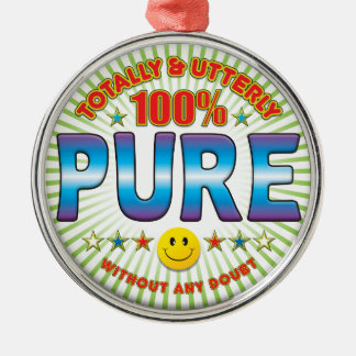 Pure Totally Round Metal Christmas Ornament