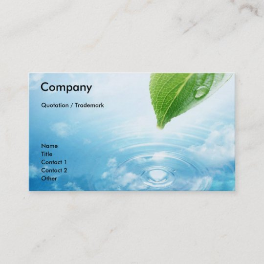 Pure water business card template zazzle pure water business card template colourmoves