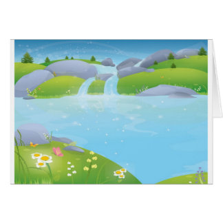 Pure Water Well Spring design Card