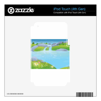 Pure Water Well Spring design Decals For iPod Touch 4G