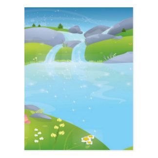 Pure Water Well Spring design Postcard