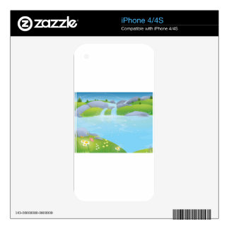 Pure Water Well Spring design Skin For iPhone 4S