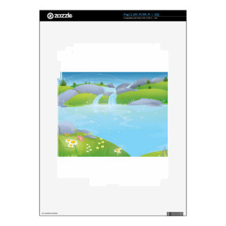 Pure Water Well Spring design Skin For iPad 2