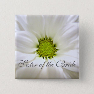 pure white daisy flower wedding button