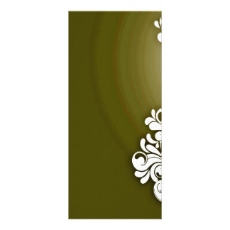 Pure White floral and greenish texture Personalized Rack Card