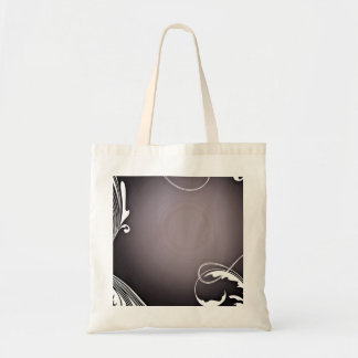Pure White Floral on Vibrant circles texture Bags