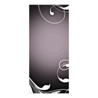 Pure White Floral on Vibrant circles texture Customized Rack Card