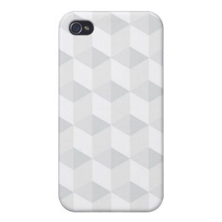 pure white,geometry,graphic design,modern,ultra tr iPhone 4/4S cover