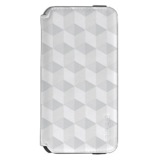 pure white,geometry,graphic design,modern,ultra tr iPhone 6/6s wallet case