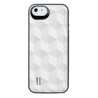 pure white,geometry,graphic design,modern,ultra tr iPhone SE/5/5s battery case