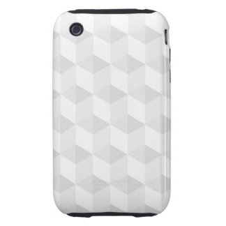 pure white,geometry,graphic design,modern,ultra tr tough iPhone 3 cover