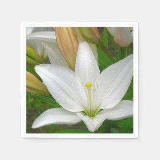 Pure White Lily Napkin