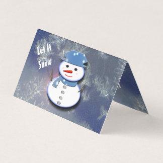 Pure White Snowman Card