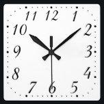 """Pure White Square Clock<br><div class=""""desc"""">Pure White Square Clock</div>"""