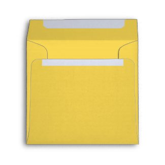 Pure Yellow Linen Envelopes