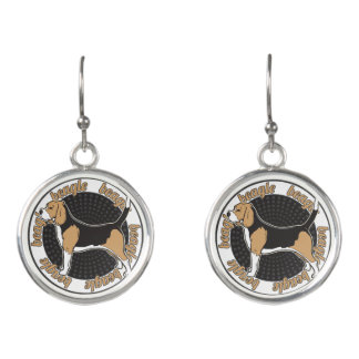 Purebred Beagle Dog Lovers Gift Earrings