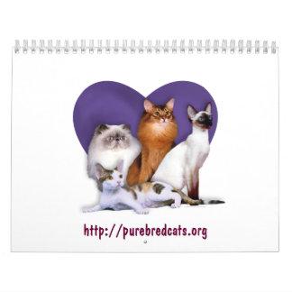 Purebred Cat Breed Rescue Calendar
