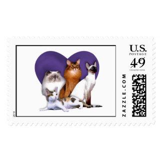 Purebred Cat Rescue Stamp
