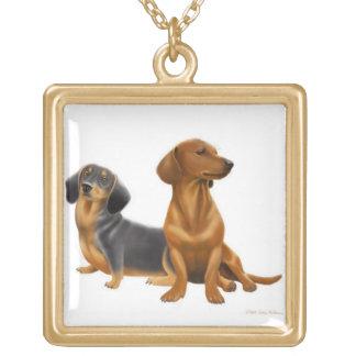 Purebred Dashchund Dogs Necklace
