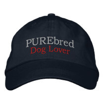 Purebred Dog Lover for Pet Lovers Embroidered Baseball Hat