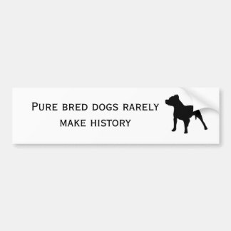 Purebred dogs bumper sticker