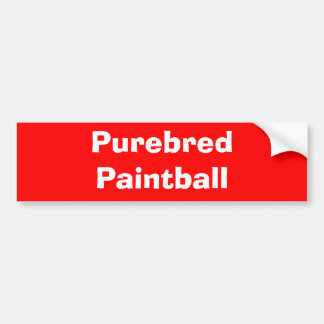 Purebred Paintball Bumper Stickers