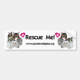 Purebreds Plus Rescue Me Bumper Sticker