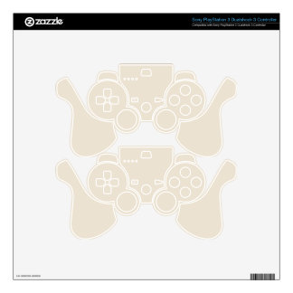 Purely Nostalgic White Color Skin For PS3 Controller