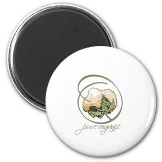 Purely Organic 2 Inch Round Magnet