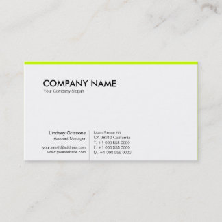 PurePro No11 Vibrant Green Business Card