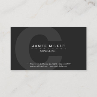 PurePro No4 Dark Gray Business Card