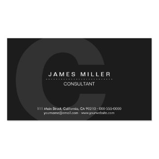 PurePro No4 Dark Gray Business Card Template