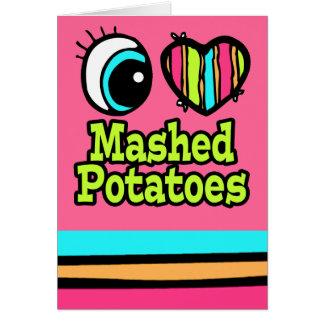 Purés de patata brillantes del amor del corazón I  Felicitaciones