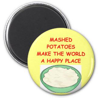purés de patata iman de nevera